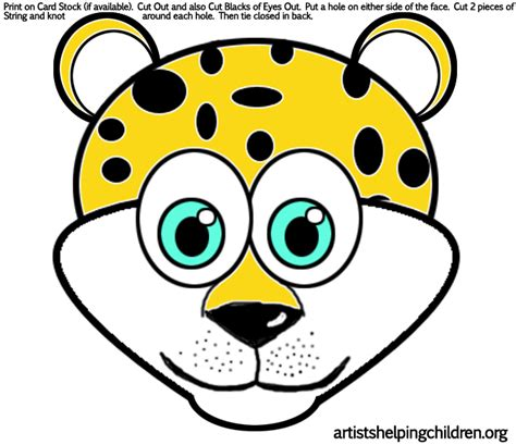 leopard mask template snow leopard crafts for children