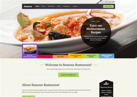 html themes restaurant free download seasons five 85 wsource