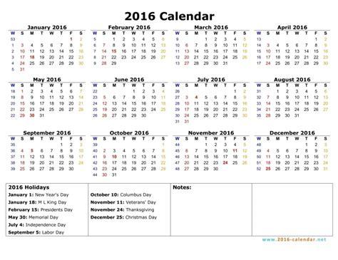 Sunday Through Saturday Calendar Template by Monday Through Sunday Calendar 2016 Free Calendar Template