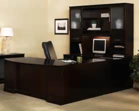 U Shaped Desk Mayline St2 Sorrento Left Bow Front U Shaped Desk With 3 Drawer Pedestals