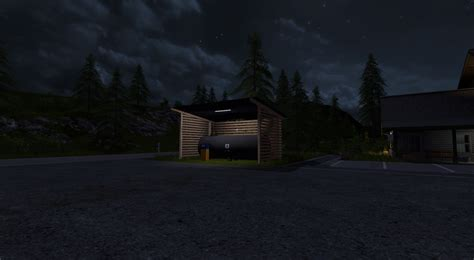 small night light ls gas station with shelter and night light v 1 0 fs 17