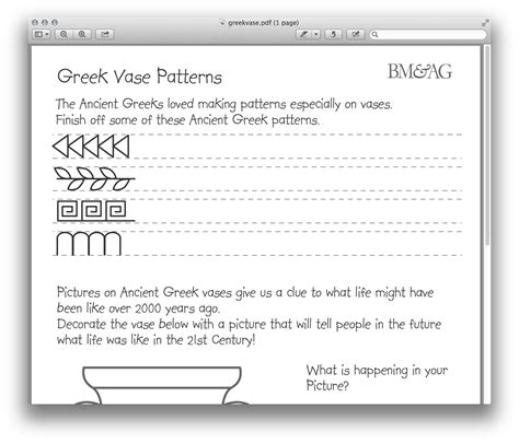 pattern english learning greek pottery and patterns worksheet ancient greece for