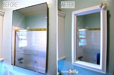 bathroom mirror makeover 5 diy tips to a bathroom mini makeover homejelly