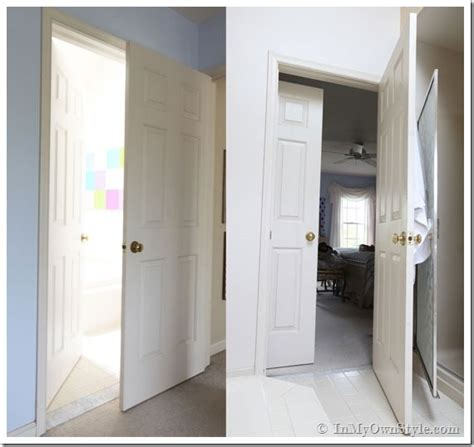 doors for small bathrooms bathroom gets a makeover using rolling door hardware