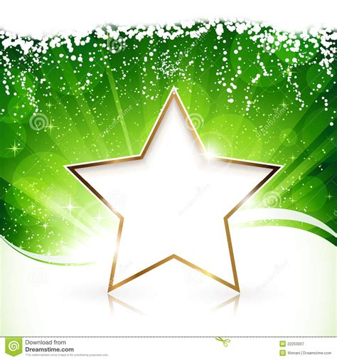 golden christmas star  green background royalty  stock photography image