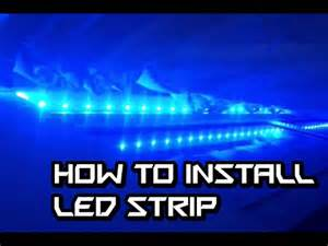how to install led light strips on a motorcycle how to install led light on window frame
