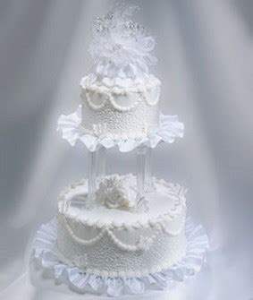 Wedding Cake Patterns by Wedding Cakes In White With Traditional Patterns