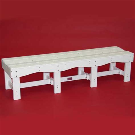 70 inch storage bench tailwind 70 inch recycled plastic bench bb 700 white