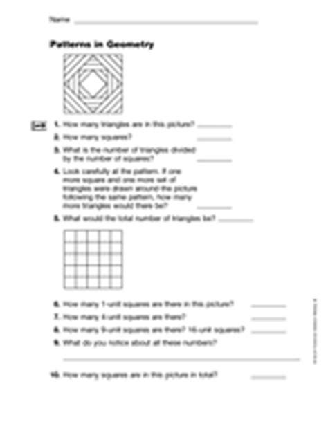 geometric pattern rules geometry patterns in geometry gr 3 teachervision