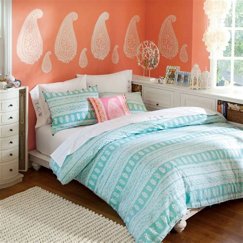 coral teal bedroom bedroom ideas pictures