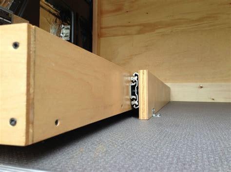 bike rack closeup use as diy drawer slides sprinter