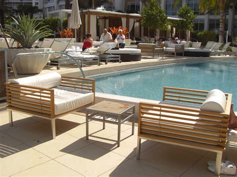 patio furniture miami luxury going silvery grey patina in