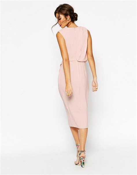 drape wrap dress asos asos wedding wrap drape midi dress at asos