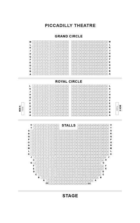 Piccadilly Theatre Seating Plan, London | Boxoffice.co.uk