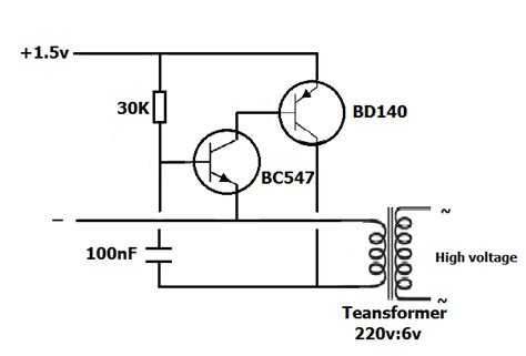 6v to 220v inverter circuit diagram running small 220v l by 1 5v battery simple projects