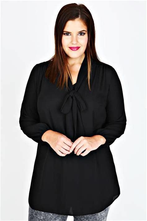Blouse Rumbai Bow Black black sleeve chiffon bow blouse yours