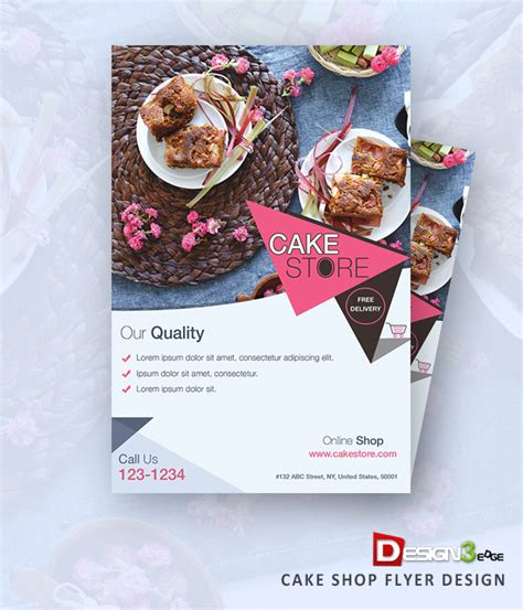 cake flyer template free cake shop flyer design freebies fribly