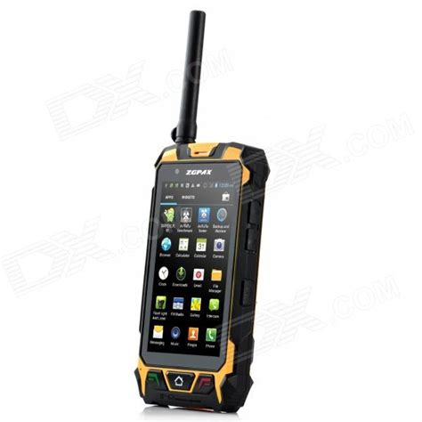 android walkie talkie water proof dual android 4 2 phone w dual sim walkie talkie infrared laser light black