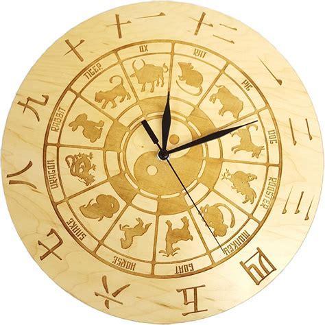 new year zodiac wheel craft wheel of zodiac animals ying yang wall clock