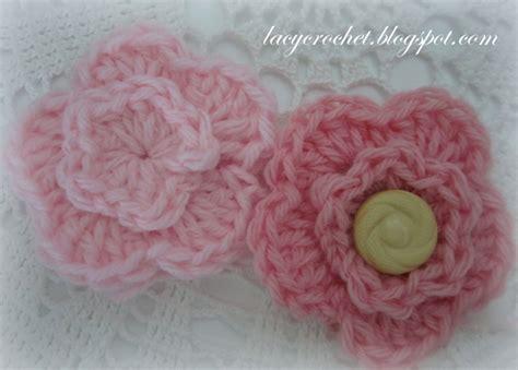 crochet flower pattern magic ring lacy crochet one pattern two flowers