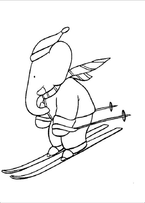 skis coloring page of book coloring pages