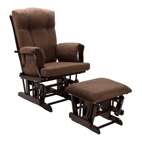 glider rocking chair and ottoman glider rocking chair and ottoman in espresso wm4041