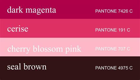 cherry blossom color cherry blossom pantone color palette cherry blossoms