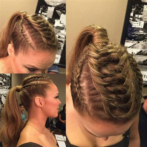 Ronda Rousey Hairstyles | 24 best images about gym hairstyles on pinterest ronda