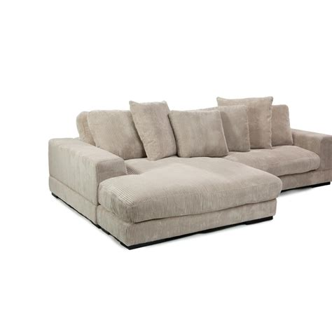 Corduroy Sectional Sofa Plunge Sectional In Cappuccino Corduroy Fabric Simply Furniture
