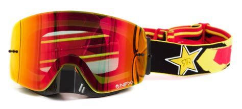 rockstar motocross goggles dragon new mx nfxs rockstar energy ionized yellow red