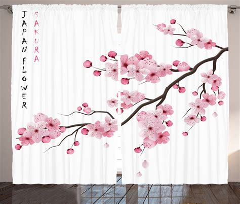 illustration of japanese cherry flower decor