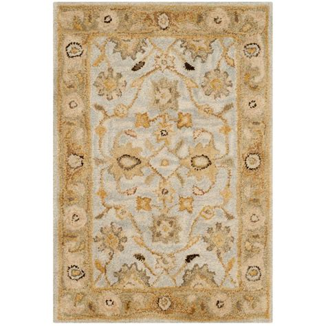 3 ft rugs safavieh antiquity light blue 2 ft x 3 ft area rug at856b 2 the home depot