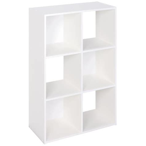 Closetmaid Wire 6 Cube Organizer White Closetmaid 6 Cube Laminate Organizer White Closetmaid 6