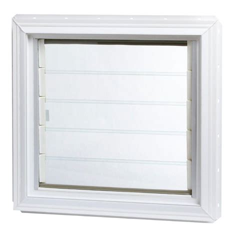 jalousie pvc tafco windows 12 in x 24 375 in jalousie utility louver