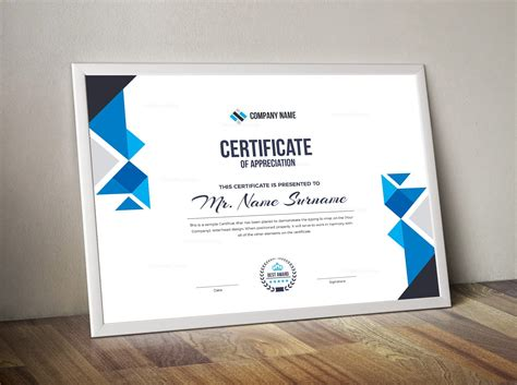 corporate certificate template 000852 template catalog