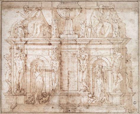 michelangelo draftsman and designer books file michelangelo second design for wall for julius