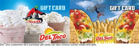 Del Taco E Gift Card - del taco gives you combo meals and gifts when you purchase their gift cards