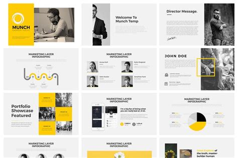 Munch Powerpoint By Graphix Shiv On Envato Elements Envato Templates