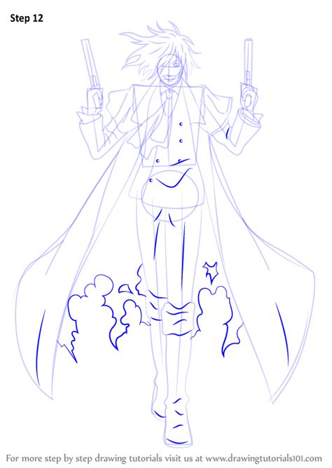 alucard coat tutorial learn how to draw alucard from hellsing hellsing step by