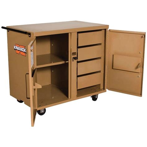 the rolling bench knaack 44 in 4 drawer rolling work bench 44 the home depot