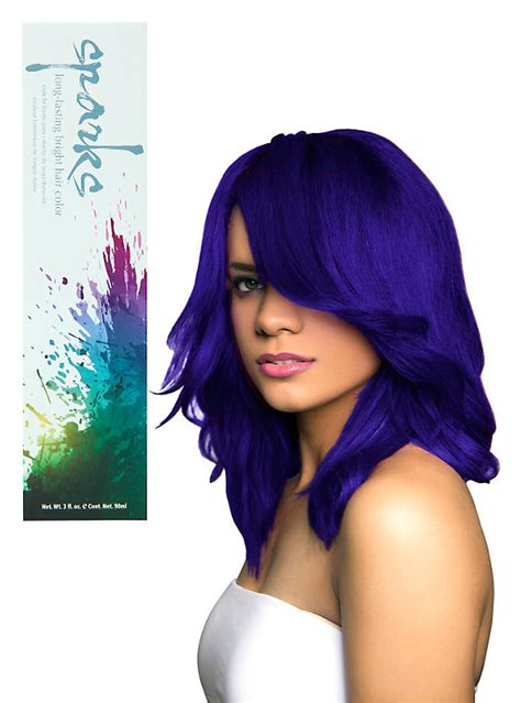whats a hot hair color sparks electric blue hair dye hot topic