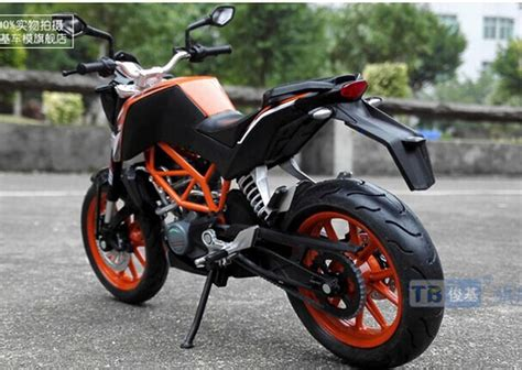 Ktm Duke 200 Orange Orange Black 1 12 Scale Diecast Ktm Duke 200 Motorcycle