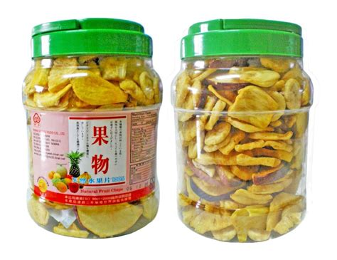 mixed fruit chips  plastic pot trusnex taiwan