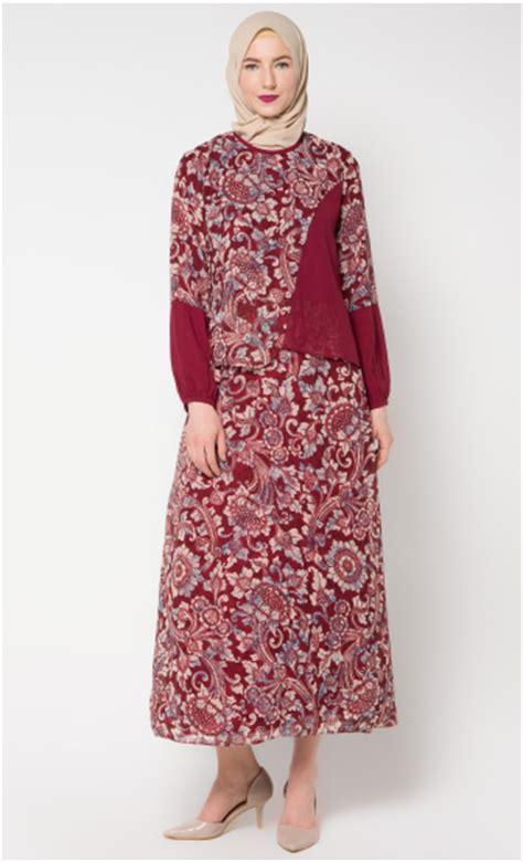 Gamis Bukan Batik kumpulan model gamis muslim modis paling banyak disukai baju muslim terbaru