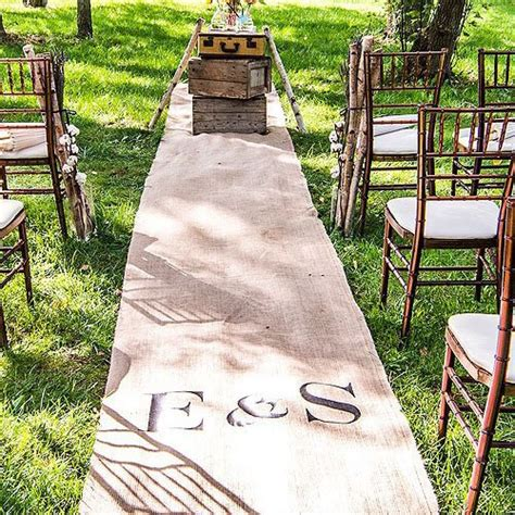 Personalized Wedding Aisle Runner Cheap by Personalized Burlap Aisle Runner With Monogram