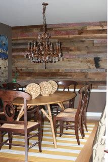 Wood Accent Wall In Dining Room Reclaimed Wood Chicago Residential Reclaimed Wood Projects
