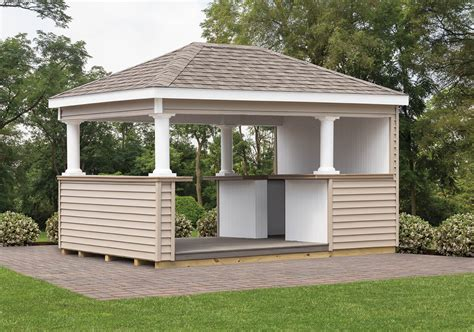 cabanas outdoor bars cedar craft storage solutions