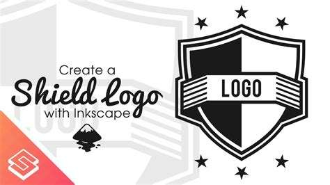 inkscape tutorial create logo inkscape tutorial vector shield logo youtube