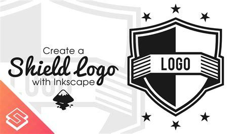 inkscape logo tutorial inkscape tutorial vector shield logo youtube
