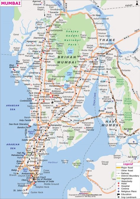 mumbai map mumbai city map mapsofmumbai